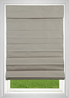 DEZ Furnishings AM3RTN360640 Cordless Roman Shade, Certified Child Safe, Tan, 36W x 64L Inches