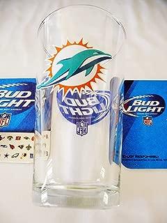 Bud Light/Miami Dolphin NFL Beer Glass & Coaster Set