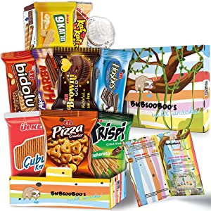 Midi International Snack Box   Snacks Variety Pack of International Treats and Candies   Foreign Snack Box Offering Unique Tasting Experience   Exotic Snacks From Around the World   Giftable Mix Care Pack of Turkish Candies   12 Full-Size Snacks