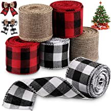 Bows Christmas Tree Ribbon Wire Edged by The Trimmery for Decorative Use Gold and White 2 12 x 10 Yards Total