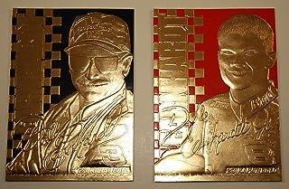 Bleachers Set of 2 - Dale Earnhardt SR & JR 1999 Gold Cards Matching Serial Numbers