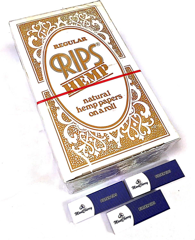 Montcherry Marke Exklusive 3 Packungen Tipps und Risse 100% Hanf Reguläre Papier Zigarettenpapier Rollen – 24 Rollen Combo Deal von Trendz B07GLZ8V44   Niedriger Preis