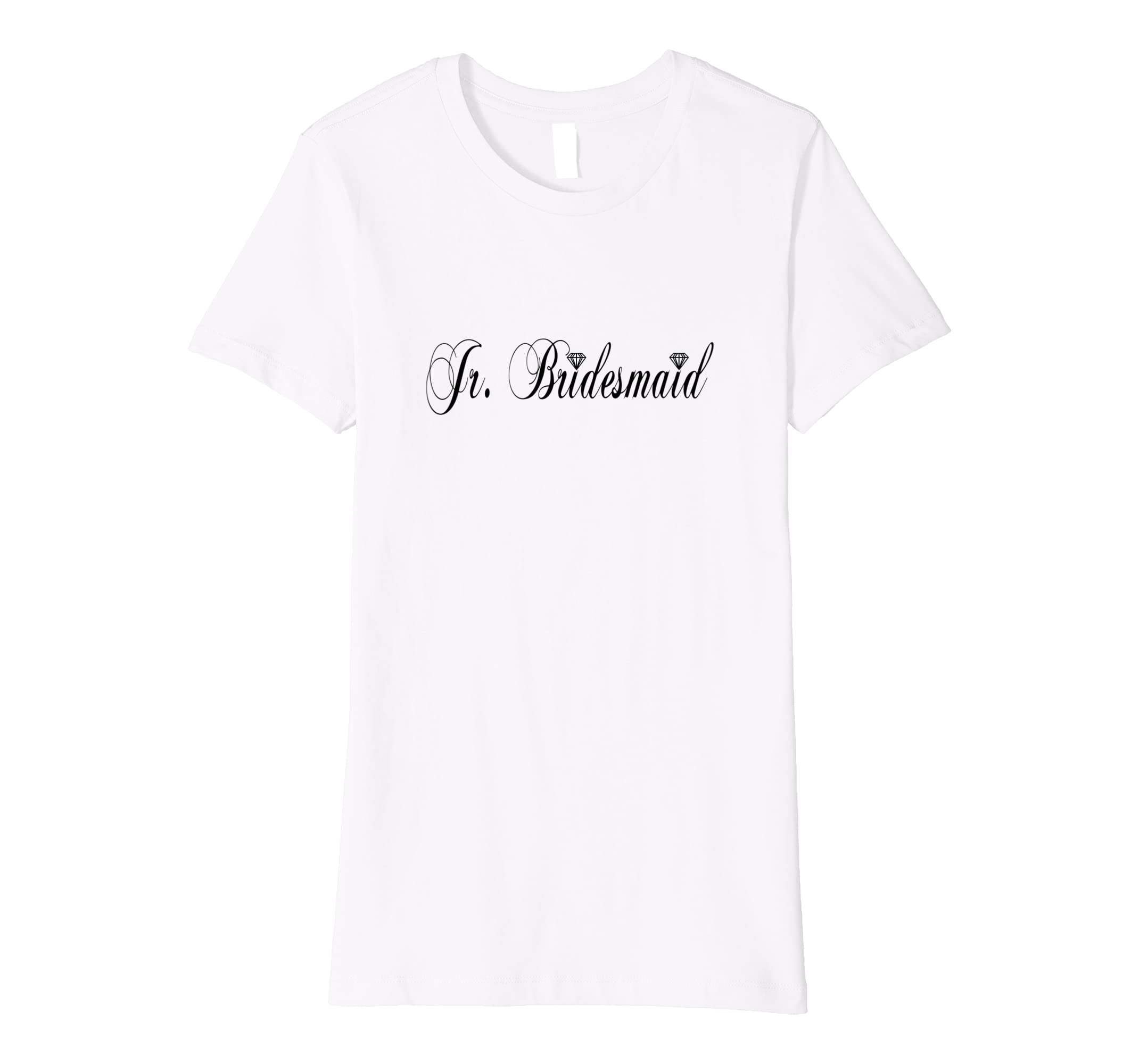 a7aefaf9f268c Junior Bridesmaid Diamond Wedding Bridal Party T-Shirt