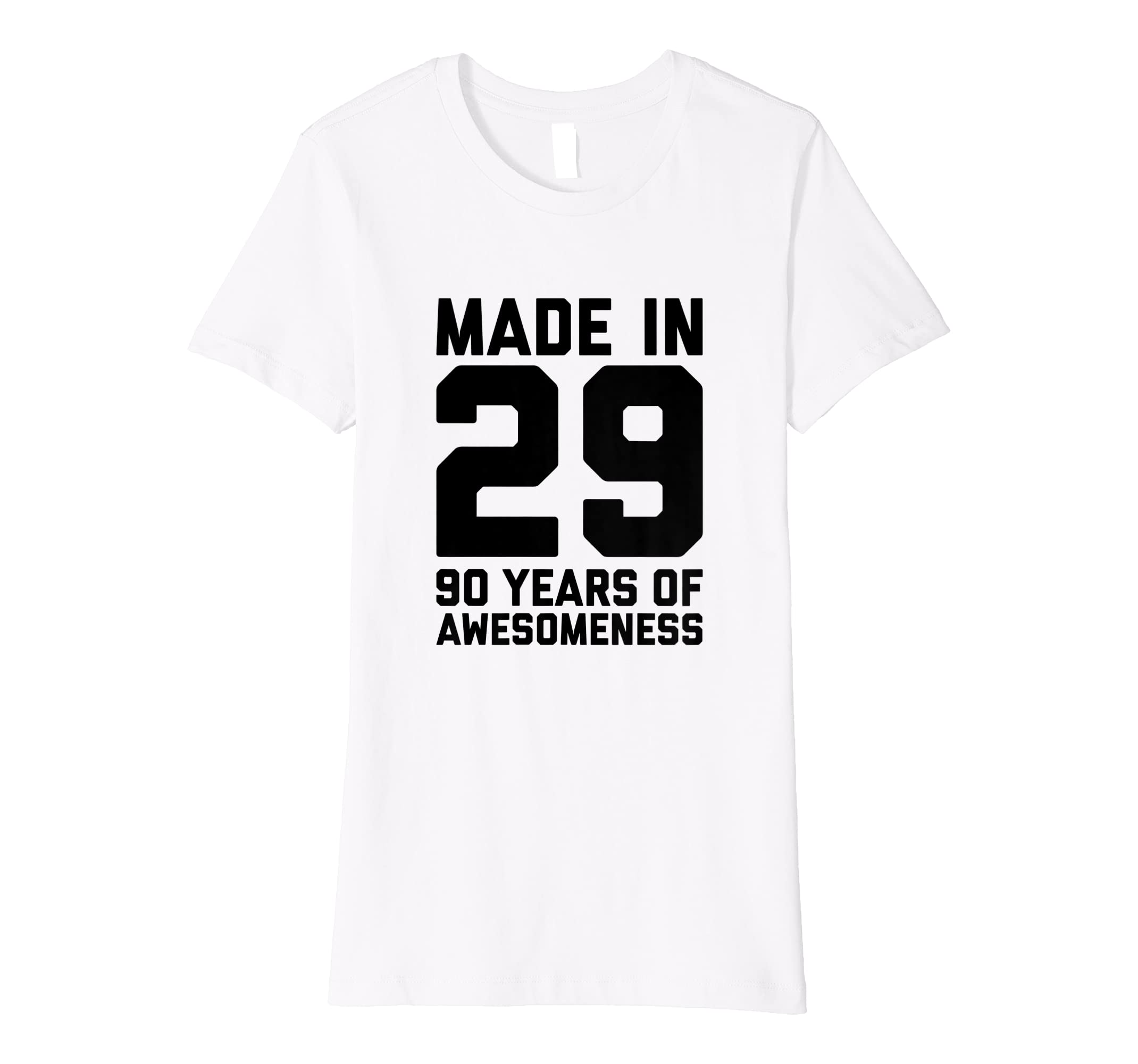 Amazon 90th Birthday Tshirt Women Gifts Age Ninety 90 Year Old Men Clothing