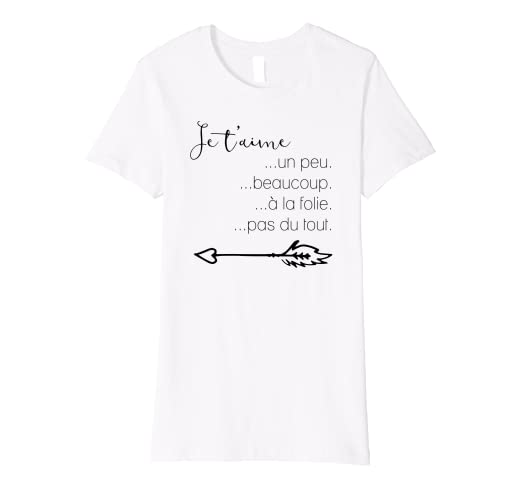 2d99094f563717 Amazon.com: Cute French T-shirt Je t'aime I love you: Clothing