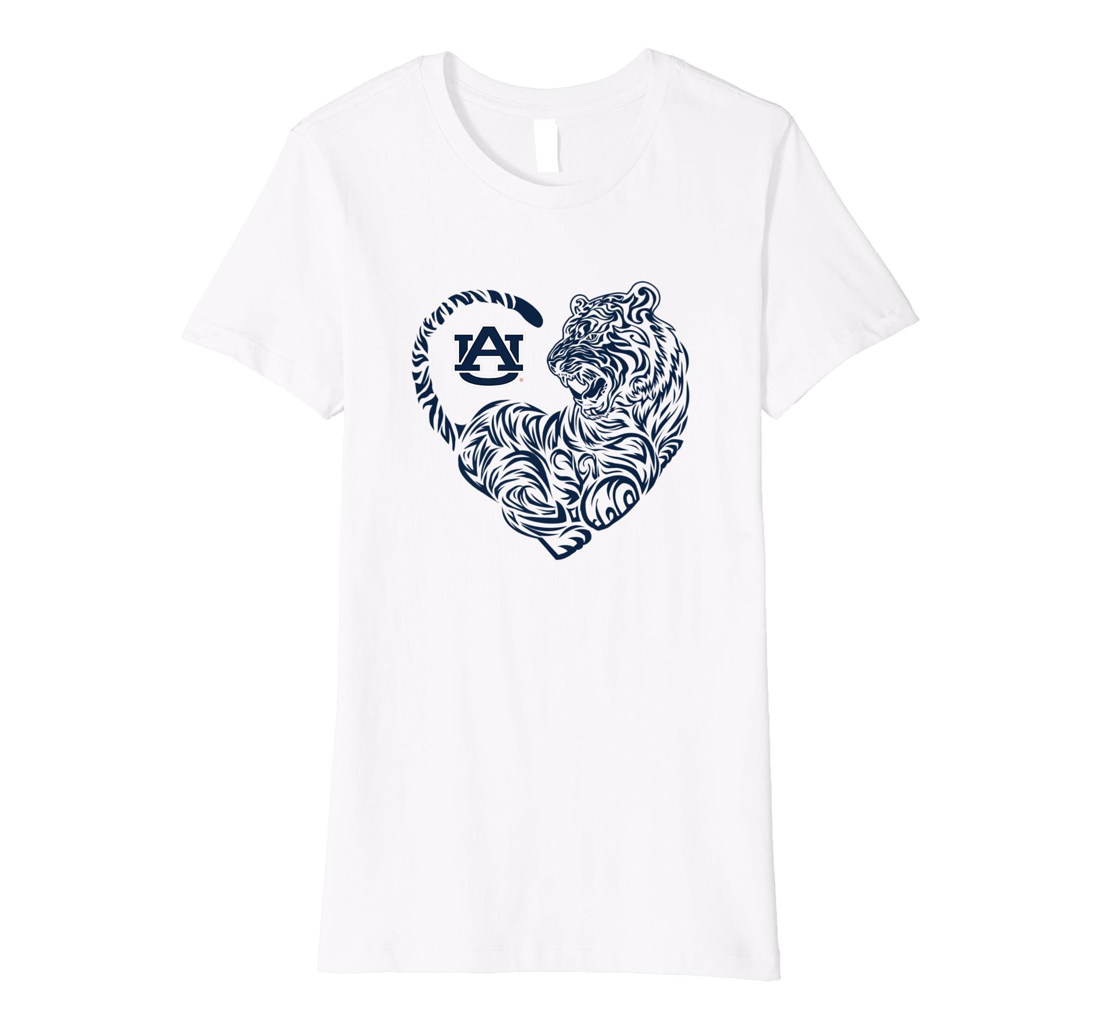 ef220a8df Amazon.com: Auburn Tigers Tiger Heart - Orange Shirt T-Shirt ...