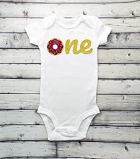 Donut Bodysuit - Oh Donut - 1st birthday - first birthday - sprinkles - Doughnut - donut - 18 months - birthday outfit - birthday shirt - donut grow up - do not grow up - one donut bodysuit