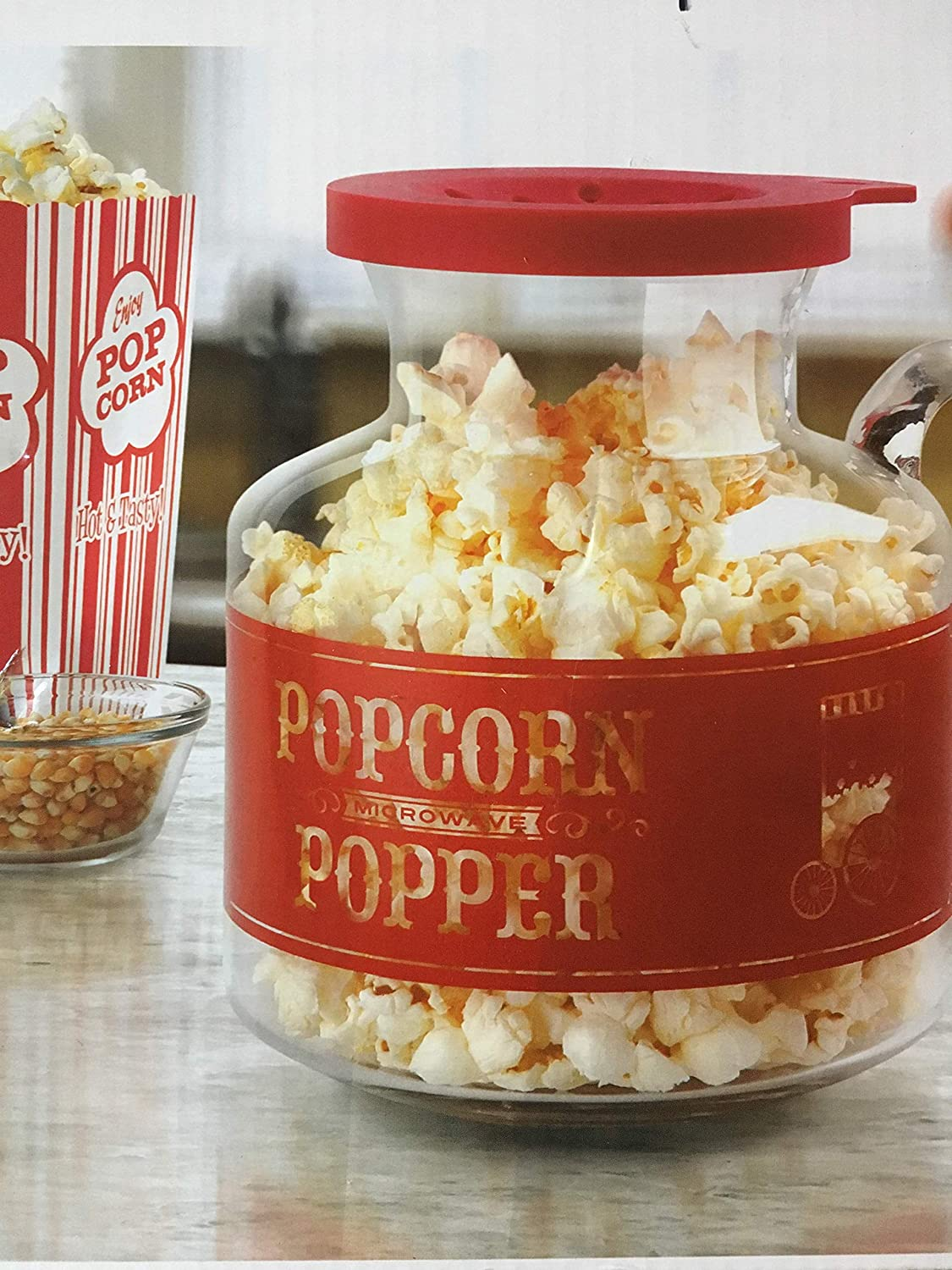 Home Outlet SALE Collection Microwave Popcorn Popper Red - Over item handling ☆