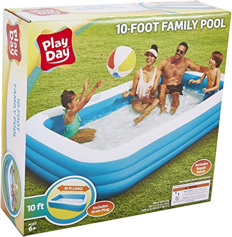 Play Day 10 Foot Family Pool Amazon Ca Home Kitchen