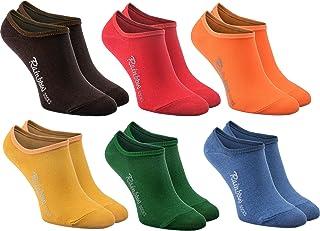 Rainbow Socks, Mujer Hombre - Coloridos Bunte Calcetines Bajos Invisibles de Algodón