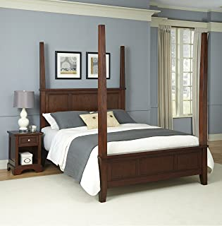 Chesapeake Classic Cherry King Poster Bed and Night Stand by Home Styles