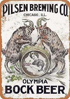 Wall-Color 7 x 10 Metal Sign - Olympia Bock Beer - Vintage Look