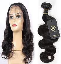 HZSHMM 10A Grade Brazilian Hair Body Wave 14inch 1 Bundle 100 Gram 100% Unprocessed Brazilian Virgin Body Wave Human Hair Weaves Natural Black Hair Extensions(14inch)
