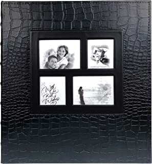 RECUTMS Photo Album 4x6 500 Pockets Sewn Bonded Black Pages Large Leather Cover Wedding Family Photo Albums Holds 500 Horizontal and Vertical Photos