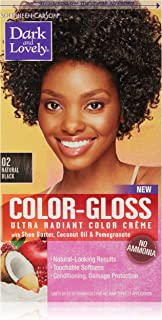 SoftSheen-Carson Dark and Lovely Color-Gloss Ultra Radiant Color Crème, Natural Black 02