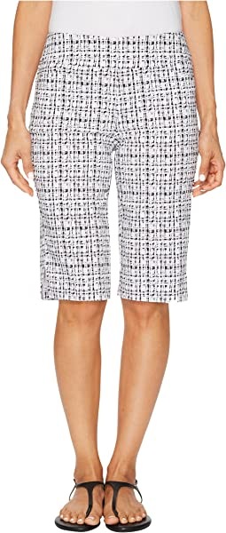 "Stretch Printed Bengaline 13"" Pull-On Bermuda"