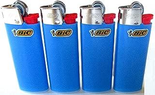 Bic Mini Sky Blue Lighters Lot of 4