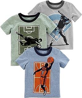 Camiseta Carter's de manga curta para meninos, pacote com 3