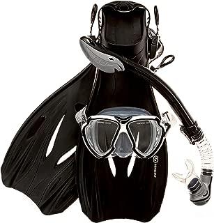 Sea Scout Adult Snorkeling Set - Dry-top Snorkel/Fins/Mask