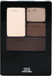 Maybelline New York Expert Wear Eyeshadow Quads, Natural Smokes, 0.17 oz.