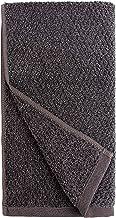 Everplush Diamond Jacquard Quick-Dry Hand Towels Set, 4 Piece, Charcoal (Dark Grey)