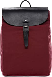 Feynsinn Rucksack Canvas & Leder Hanne Backpack Tagesrucksack Stadtrucksack Daypack Laptopfach Lederrucksack Unisex