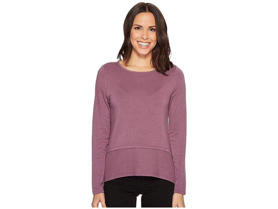 Ivanka Trump Knit Long Sleeve Top (Amethyst) Women's Long Sleeve Pullover, Purple