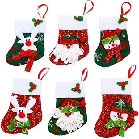 PACK OF 10 CHRISTMAS STOCKING CUTOUTS DECORATIONS CRAFT STOCKINGS PLACE CARDS