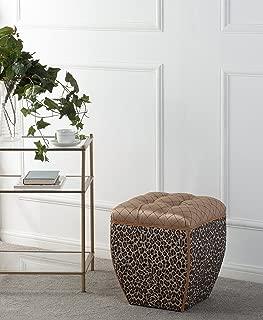 Jennifer Taylor Home Jan Ottoman, Leopard