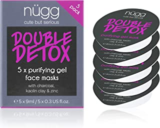 nügg Detoxifying Charcoal Facial Skin Mask; Deeply Cleanses Pores, Detoxes & Removes Excess Oil; for Normal, Oily, Combina...