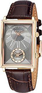 ساعة يد غلوب تروتر بمينا اسود وعرض انالوج مزدوج للوقت للرجال من تيتان