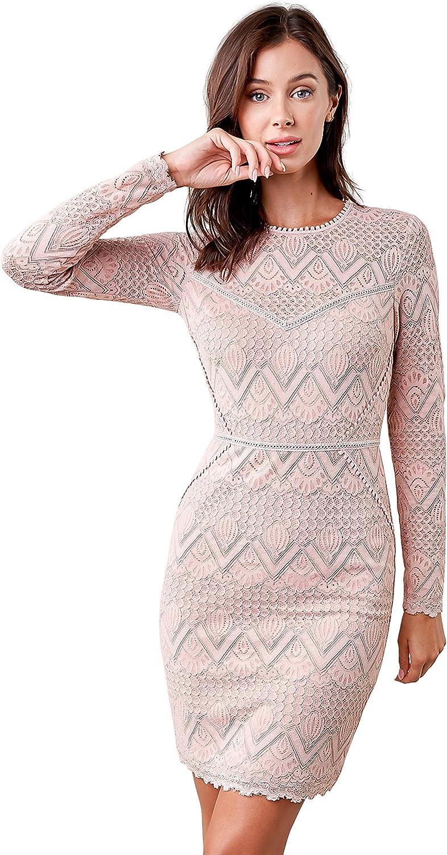 Bargain Sugar Lips Women's Flirting Fate trend rank Lace Bodycon Dress