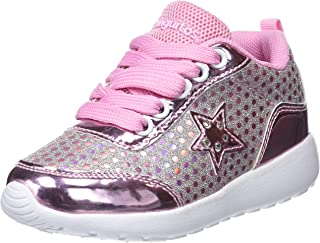 Deportivo Glitter con Luz, Zapatos de Cordones Derby para Niñas