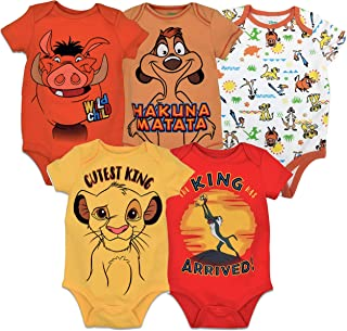 Lion King 5 Pack Short Sleeve Bodysuits