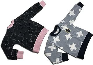 中性款幼儿 2 件套运动衫(3Y,黑河灰)