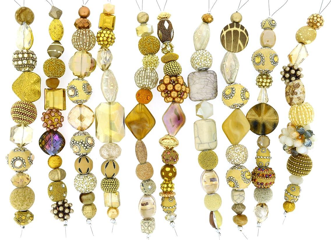 Jesse James Strand Beads, Assortment Gold, Set of 10