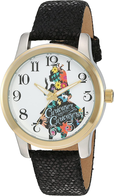 Disney Women's shipfree 'Alice in Wonderland' Watch Quartz 100% quality warranty Color:B Metal