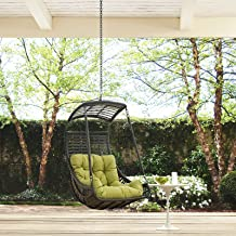 Modway Jungle Outdoor Patio Swing Chair Without Stand, Peridot