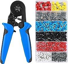 0,5-1,5mm/² avec 505PCS-21 Types de Cosses /à Sertir Isol/ées 1,5-2,5mm/² 4-6mm/² HOMCA Pince /à Sertir /à Cliquet pour Cosses Pr/é-Isol/ées 505 PCS isol/ées de AWG22-10