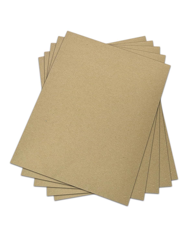 Chipboard - Cardboard Medium Weight Chipboard Sheets - 25 Per Pack. (12