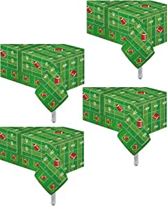 4 Pack Game Day Football Touchdown Tablecover 54