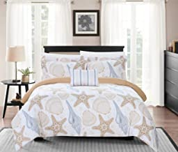 Chic Home Azure 4 Piece Reversible Duvet Cover Set Life in the Sea Theme Print Design Bedding-Decorative Pillow Shams Incl...