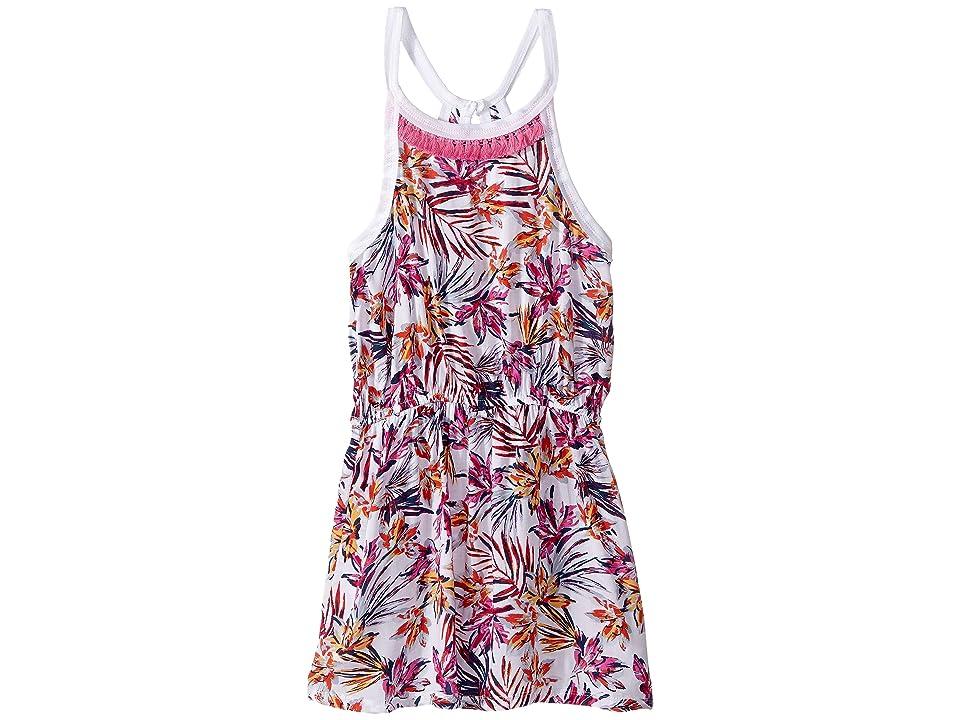 Splendid Littles All Over Print with Fringe Trim Dress (Big Kids) (Hot Pink) Girl