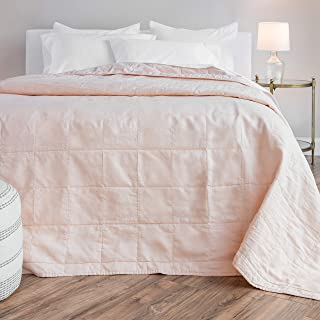"Sponsored Ad - Welhome Relaxed Linen and Cotton Percale Oversize Quilt | King Size | Rose Pink | 114"" x 96"" 