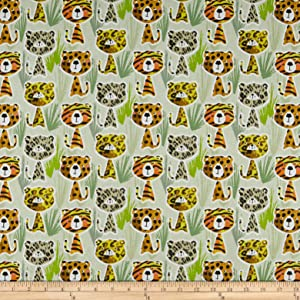 STOF France Felino Fabric, Vert, Fabric By The Yard