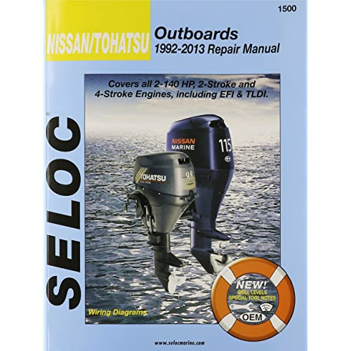 nissan/tohatsu outboards 1992-13 repair manual: all 2-stroke & 4-stroke  models: seloc: 9780893300791: amazon com: books