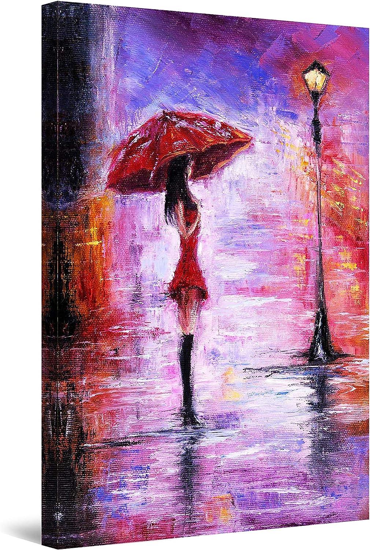 店 Startonight Canvas Wall Art Abstract - 新作多数 Purple a Rainy Woman Day