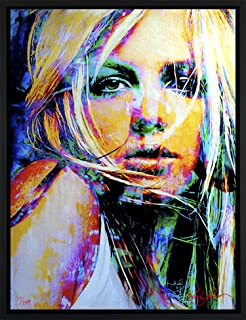 Mark Lewis Art Britney Spears art print wall decor framed canvas art sbs1bsleg - signed collectible
