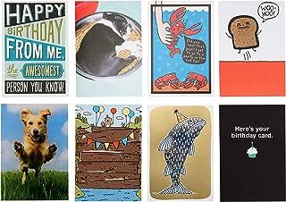 Hallmark Shoebox Funny Birthday Card Assortment (8 Cards with Envelopes)