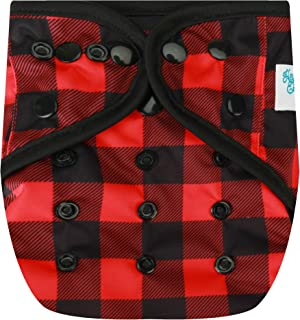 HappyEndingsTM One Size Cloth Diaper Cover AI2 System (Buffalo Plaid)